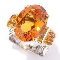 Gems en Vogue II 10.40ctw Madeira Citrine and Orange Sapphire Ring ShopNBC.com
