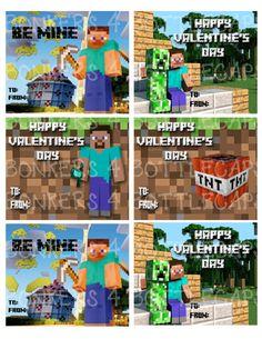 valentine cards minecraft