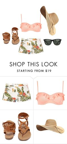 """I think I'm in Hawaii"" by haileyvontz ❤ liked on Polyvore featuring MANGO, River Island, Breckelle's and Ray-Ban"