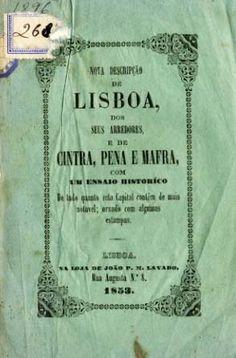 NOVA DESCRIÇAO DE LISBOA DOS SEUS ARREDORES E DE SINTRA PENA E MAFRA - LINDEMANN (Carlos)