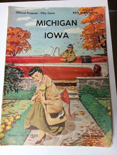 Blog / Tutorials – Bruiser Art Wow, this is sexist.  Honestly the 1950's were nuts.  This is an Iowa football program.  Those crazy ladies always playing with flowers when there's FOOTBALL TO DO.