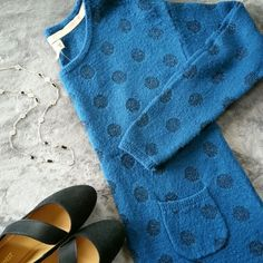 ☆HOST PICK☆ Teal metallic polka dot sweater Host pick 9/28. Such a cozy sweater with a cute little pocket detail. Sweaters