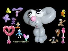Balloon simple mouse, Ballon einfache Maus, Animals Tiere, Modellierballon Ballonfiguren