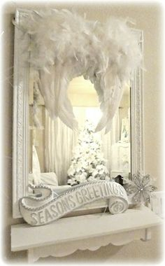 Not So Shabby - Shabby Chic: Love the wings on this mirror!