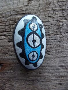 Rekindle Stones #54 - hand painted affinity stone by JonCooneyArts, $15.00