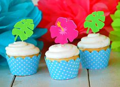 The Hula Collection - Custom Cupcake Toppers from Mary Had a Little Party by maryhadalittleparty on Etsy https://www.etsy.com/listing/125621427/the-hula-collection-custom-cupcake