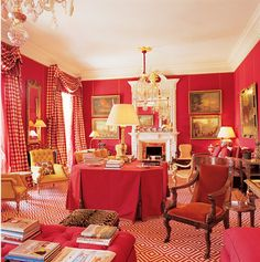 North Carolina Interior Designer Uses Ralph Lauren Farrow And Ball Benjamin Moore Red Paint Colors To Inspire For Rooms