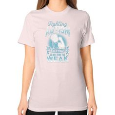 FIGHTING autism Unisex T-Shirt (on woman)