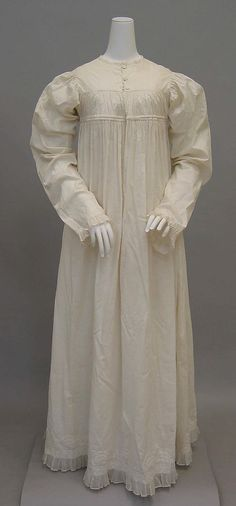 Dress Date: 1810–20 Culture: American Medium: linen Dimensions: [no dimensions available] Credit Line: Gift of Mrs. Frank O. Bowman, 1964 Ac...