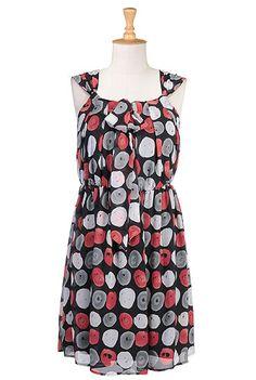 Pops of color dress, eShakti.com, dresses, Spots and dots, Spotted, $59.95