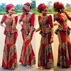 Today we will be taking a look at the latest Ankara styles for weddings. The Ankara fabric, with its African Print Dresses, African Dresses For Women, African Wear, African Attire, African Fashion Dresses, African Women, Nigerian Fashion, Ankara Fashion, African Shop