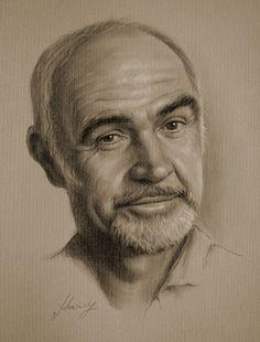 Sean Connery -- Pencil art by Krzysztof Lukasiewicz