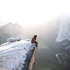 Yosemite's Half Dome..Long way down but a beautiful valley below from this fabulous vantage point! LL:)