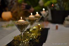 Decoración navideña de mesa con velas | Christmas table decoration with candles