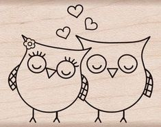 """Hero Arts Mounted Rubber Stamps 1.5""""X2""""-Heart Owls Mounted Stamp Notions - In Network http://www.amazon.com/dp/B0031H6D7I/ref=cm_sw_r_pi_dp_cD0Wvb1GVZ471"""