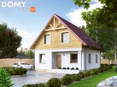 Projekt domu Oliwka 2 - wizualizacja frontowa Garage Studio, Favorite Paint Colors, Bungalow House Plans, Design Case, Home Fashion, Home Projects, Tiny House, Home Improvement, Sweet Home