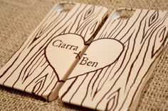 Two Heart in Woodgrain iPhone Cases - Mix and Match Faux Bois Samsung and iPhone Cases, Newlywed, Boyfriend, Girlfriend, Rustic Phone Covers