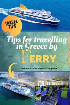 There are about 2000 islands in Greece and 78 of them where you can get to by ferry. Some small islands don't even have an airport and the only way to visit them is by ferry. FOLLOW THESE TIPS TO MAKE YOUR TRAVELING BY FERRY IN GREECE COMFORTABLE AND SMOOTH   Greek ferries   Greek Travel Tips Crete Island Greece, Greece Islands, Europe Travel Guide, Travel Guides, Travel Tips, Greece Holiday, Worldwide Travel, Small Island, Packing Tips