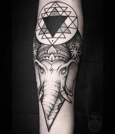 Lord Ganesha tattoo by @r0bs_