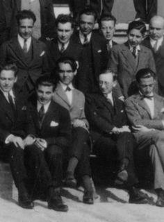 Salvador Dalí (on the right, first row) andFederico García Lorca (third from left) at La Residencia de Estudiantes. Madrid, 1925.