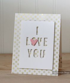 Little Letters Die-namics, Staggered Hearts Border Die-namics, Darling Dots, Distressed Hearts - Kimberly Crawford #mftstamps