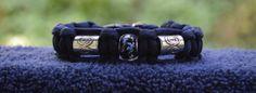 Dark Blue Beaded Paracord Bracelet  Size 7 by RainyDayzArt on Etsy, $12.50 https://www.etsy.com/listing/190911224/dark-blue-beaded-paracord-bracelet-size?ref=shop_home_active_7