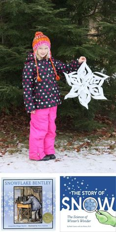 {3D Snowflakes} Book recommendations + step-by-step craft instructions
