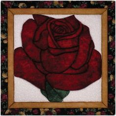 Quilt Magic 12-Inch by 12-Inch Lone Rose Kit.