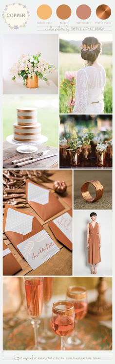 Copper: my latest inspiration board for Sweet Violet Bride