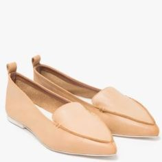 Jeffrey Campbell vionnet pointed flats in natural ↠ Jeffrey Campbell vionnet pointed flats in natural  ↠ size 7 - I would say true to size  ↠ in great condition, minor signs of wear  ↠ no trades, no PayPal - feel free to submit a reasonable offer  xx Jeffrey Campbell Shoes
