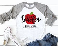 Turn Around Business Days by CutFromTheHeart on Etsy Preschool Logo, Preschool Teacher Shirts, Preschool Class, Kindergarten Classroom, Preschool Ideas, Teacher Outfits, Teacher Gifts, Teacher Clothes, Teacher Stuff