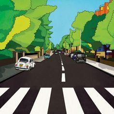 BG / infographic work Topic : The Beatles Abbey road album.