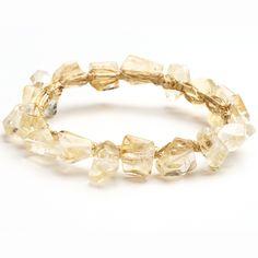Citrine & Gold Wire Wrap Bracelet