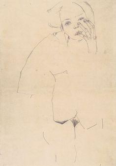 Weiblicher Akt 1910 Egon Schiele