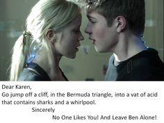 YES YES YES!    #fallingskies # benmason  Good advice, Karen.  You should take it!  lol