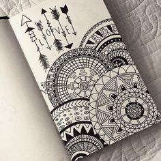 #Flecha #Love Image de drawing, love, and mandala Más