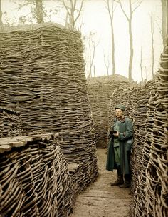WWI trenches were deliberately dog-legged so that if an enemy gunner fell in, he couldn't wipe out an entire troop with one aim.