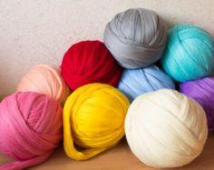DIY Arm knitting merino wool. 3 inch stitch. Super by CosyShopAE