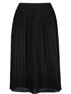 Vekki skirt från det finska märket Nanso är en plisserad kjol i svart. Dragkedja i sidan, svart underkjol och längd till knäna (över knäna om man är kort). Pass
