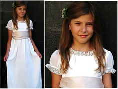 Celebration dress - Isabel Long dress - My Chic Celebration Bell Sleeve Dress, Bell Sleeves, Little Dresses, Flower Girl Dresses, Maria Rose, Lace Dress, White Dress, Communion Dresses, Celebrity Dresses