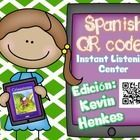 Create an instant listening center using QR codes linked to Spanish read alouds (through Safeshare). Develop listening comprehension with the 18 co...