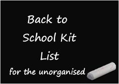Is anyone else as disorganised as me and still not got everything for back to school? Or maybe you are sorted and can help me