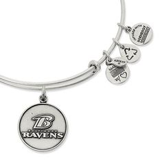 Women's Atlanta Falcons Alex and Ani Silver Logo Bracelet