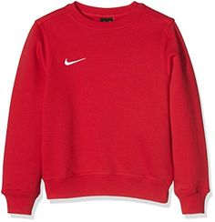 Nike Pull à manches longues pour Enfant Mixte - Rouge (University Red/Football White) - XS - 128 cm) Cute Comfy Outfits, Casual Outfits, Fashion Outfits, Sweater Jacket, Long Sleeve Sweater, Red Nike Sweater, Red Nike Hoodie, Red Shirt, Nike Vintage