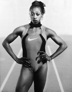 """flyandfamousblackgirls: """"Gail Devers, Westwood, CA, 1996 George Foreman Boxing, Gail Devers, 1956 Olympics, Olympic Trials, Heavyweight Boxing, American Athletes, World Figure Skating Championships, Long Jump, Sport Hall"""