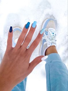 Acrylic Nails Coffin Glitter, Simple Acrylic Nails, Summer Acrylic Nails, Pastel Nails, Simple Nails, Summer Nails, Colored Acrylic Nails, Acrylic Nail Designs, Winter Nails