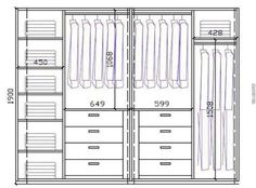Wardrobe Closet Design Guidelines & Rules - All About Wardrobe Room, Wardrobe Design Bedroom, Master Bedroom Closet, Modern Wardrobe, Bedroom Cupboard Designs, Bedroom Cupboards, Wardrobe Door Designs, Closet Designs, Wardrobe Dimensions