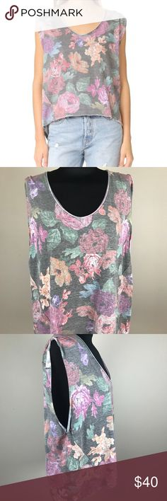 Free People Gardenia Tee NWT New with tags Free People Gardenia Hi-Lo tee. Floral print. Free People Tops Tees - Short Sleeve