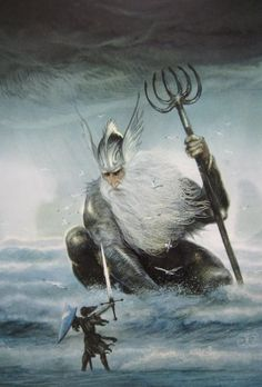 Ulmo Rises from the Sea to Counsil Tuor John Howe