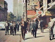Sao Joao Avenue em 1965 - Sao Paulo, Brazil